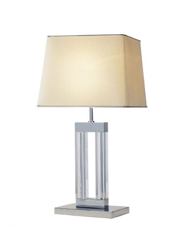 Domain Quartz Glass Table Lamp DOM4050 (787353) (Class 2 Double Insulated)